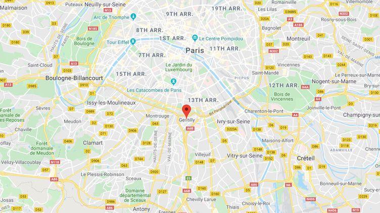 Gentilly, dans le Val-de-Marne. (GOOGLE MAPS)