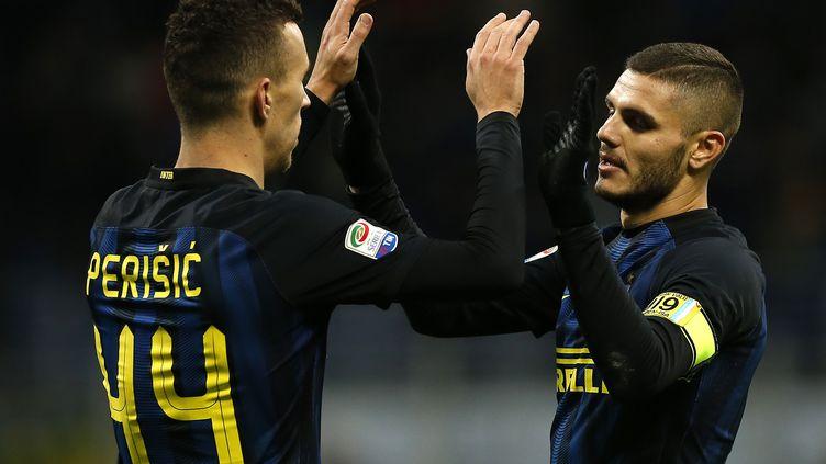 Ivan Perisic a signé un doublé face à l'Udinese (MARCO BERTORELLO / AFP)