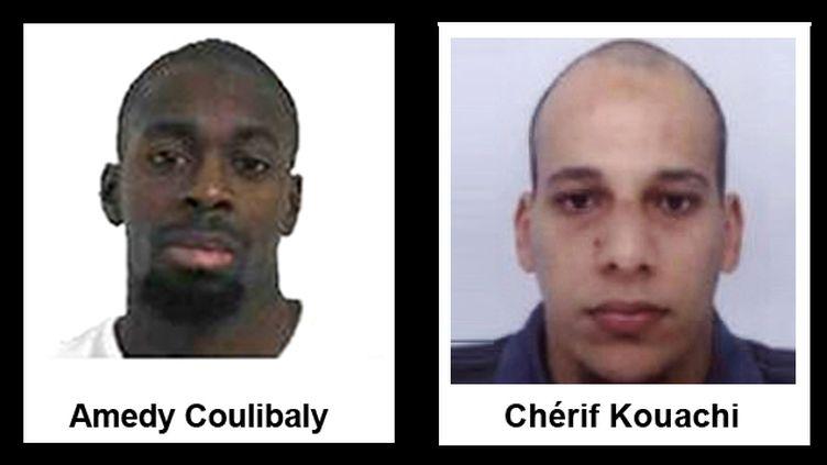 (Deux suspects des prises d'otages de Paris et Dammartin-en-Goële © Police)
