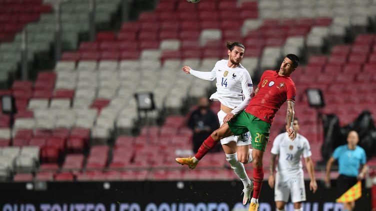 Adrien Rabiot a fêté sa 10e sélection face au Portugal (PATRICIA DE MELO MOREIRA / AFP)