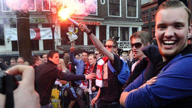 Les supporters de l'Ajax Amsterdam