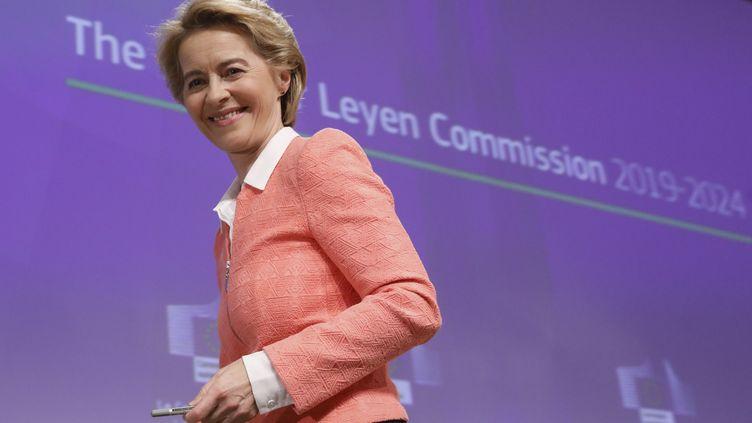 La présidentede la Commission européenne, Ursula von der Leyen, à Bruxelles, le 10 septembre 2019. (THIERRY ROGE / BELGA MAG)