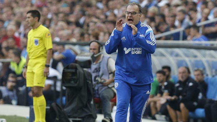 Marcelo Bielsa compte sur ses hommes pour oublier la défaite enregistrée dimanche dernier, contre Lyon (0-1).  (PHILIPPE LAURENSON / BLUEPIX)