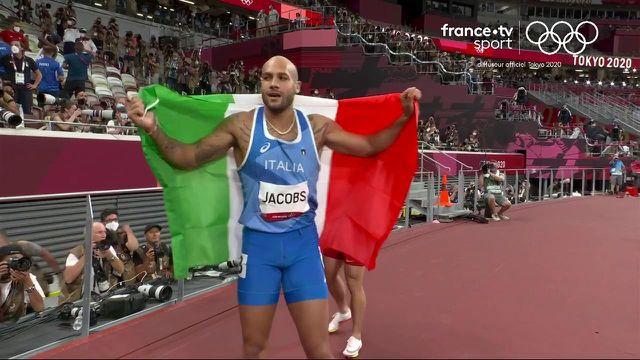 On attendait de Grasse (9.89), ou Fred Kerley (9.84), on aura finalement eu Lamont Marcell Jacobs, champion olympique de l'épreuve reine d'athlétisme. Un chrono en 9.80 pour l'Italien.