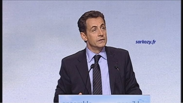 Nicolas Sarkozy à Toulon en 2007 (FTV)