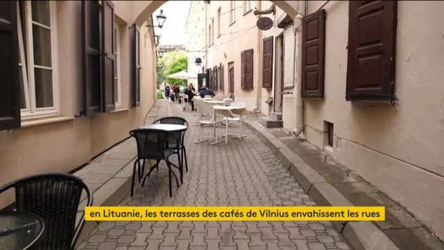 Lituanie : les terrasses de café envahissent les rues