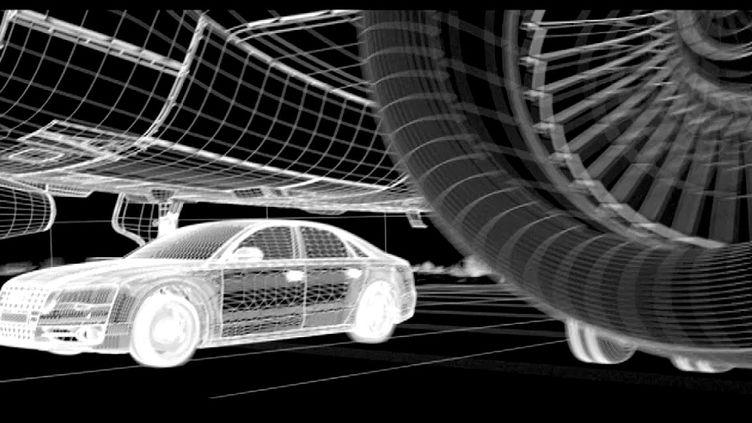 """La modélisation 3D d'une scène du """"Transporteur"""" signée Mac Guff   (Mac Guff / capture d'écran France3/culturebox)"""