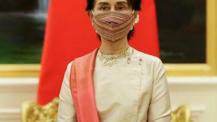 Aung San Suu Kyi àNaypyidaw (Birmanie), le 1er septembre 2020. (THET AUNG / POOL / AFP)