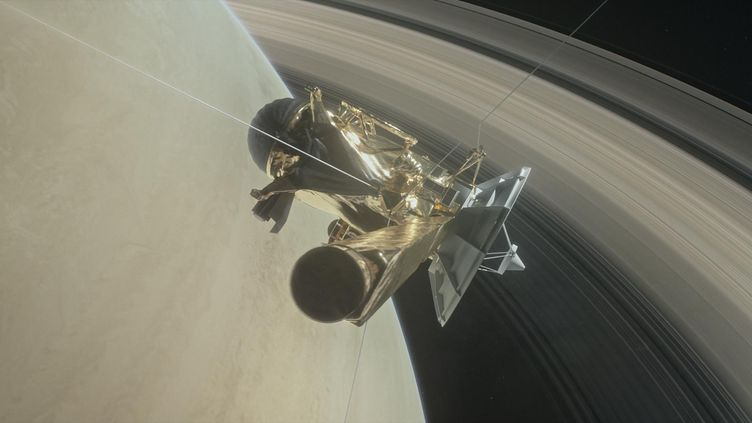 La sonde Cassini, en orbite autourde Saturne, le 6 avril 2017. (NASA / JPL-CALTECH / AFP)