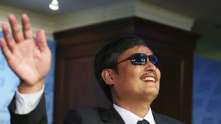 Chen Guangcheng prend la parole lors d'un débat à l'American Enterprise Institute for Public Policy Research (PICHI CHUANG / REUTERS)