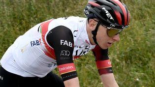 Le tenant du titreTadej Pogacar (UAE) sur la 1re étape du Tour de France 2021. (PHILIPPE LOPEZ / AFP)