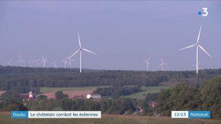 Quatre à six éoliennes devraient être construites dans le Doubs, à 1km environ d'un château destiné à accueillir des événements. Une situation qui fait débat. (FRANCE 3)