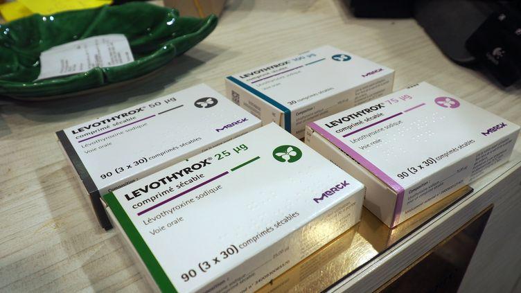 Des boîtes du médicament Levothyrox, le 30 novembre 2018. (PICTURE ALLIANCE / GETTY IMAGES)
