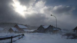 Vue de Mouthe (appelée La petite Siberie), commune du Doubs, réputée être la ville la plus froide de France, le 17 janvier 2017. (SEBASTIEN BOZON / AFP)
