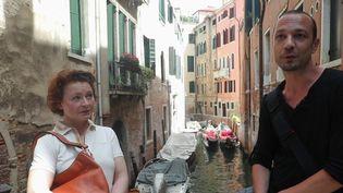 """Enquêteur pour le """"Guide du Routard"""", David Giason est à Venise pour mettre à jour le guide touristique après une année délicate liée à l'épidémie de coronavirus. (CAPTURE ECRAN FRANCE 2)"""