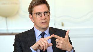 Mathieu Klein, maire de Nancy et chargédu programme d'Anne Hidalgo, candidate à l'élection présidentielle 2022, à Nancy, le 8 octobre 2021. (CEDRIC JACQUOT / MAXPPP)