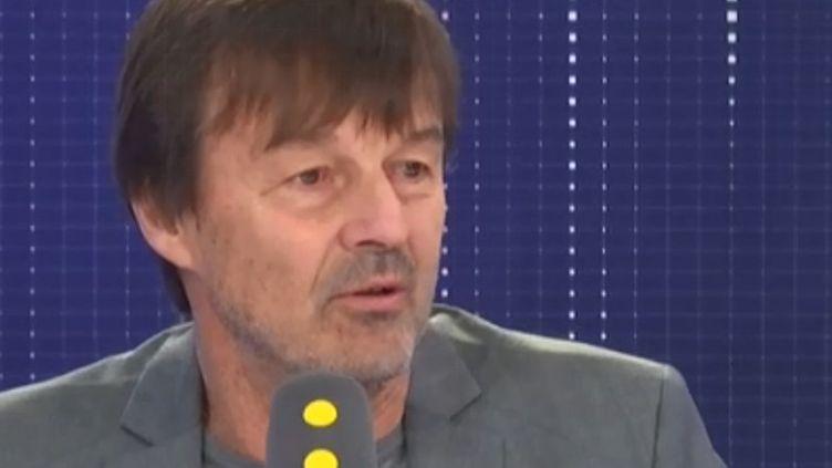 Nicolas Hulot, sur franceinfo, mercredi 29 janvier (FRANCEINFO / RADIOFRANCE)