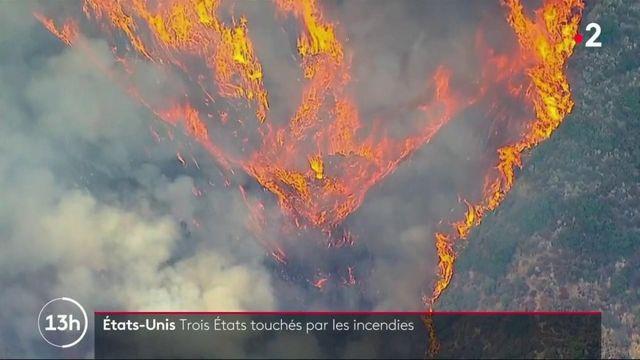 Etats-Unis : trois états touchés par les incendies