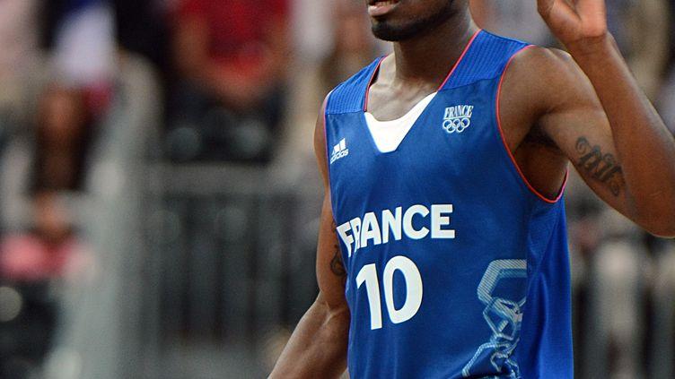 Le joueur de l'équipe de France Yannick Bokolo durant les JO de Londres (MARK RALSTON / AFP)