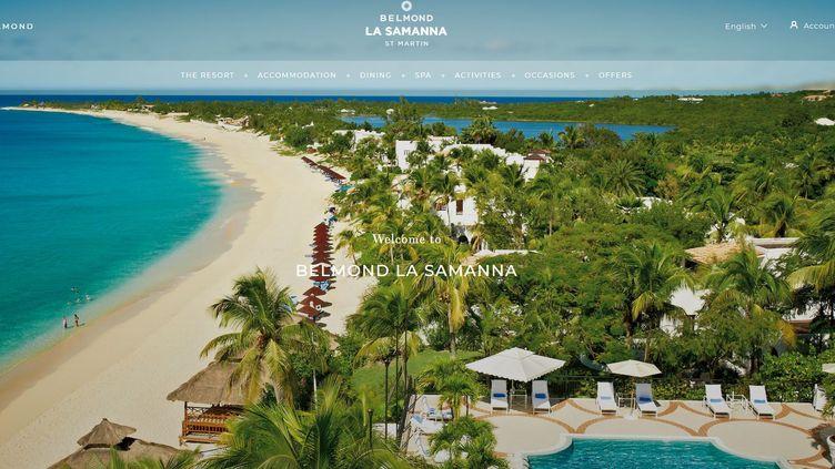 Capture d'écran du site internet de l'hôtel La Samanna. (LA SAMANNA)