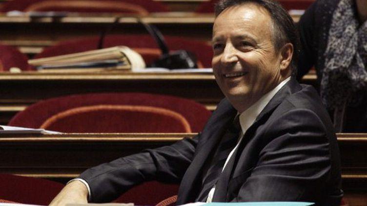 """Le président du groupe PS au Sénat, Jean-Pierre Bel: """"Nous n'avons aucune volonté d'obstruction"""" (AFP - JACQUES DEMARTHON)"""