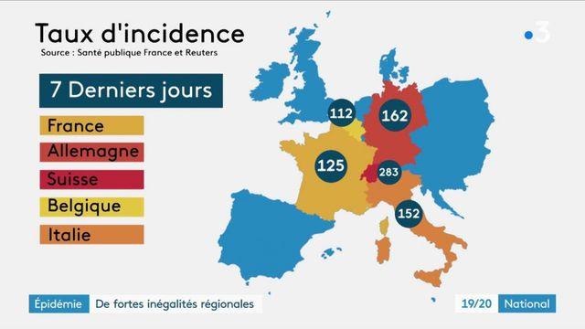 Covid-19 : pourquoi l'Est de la France est le plus touché