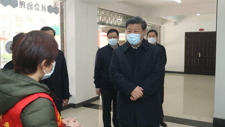 Le président chinois Xi Jinping à Wuhan le 10 mars 2020. (JU PENG / XINHUA)