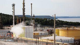 La raffinerie TotalEnergies à La Mède (Bouches-du-Rhône). (VALERIE VREL / MAXPPP)