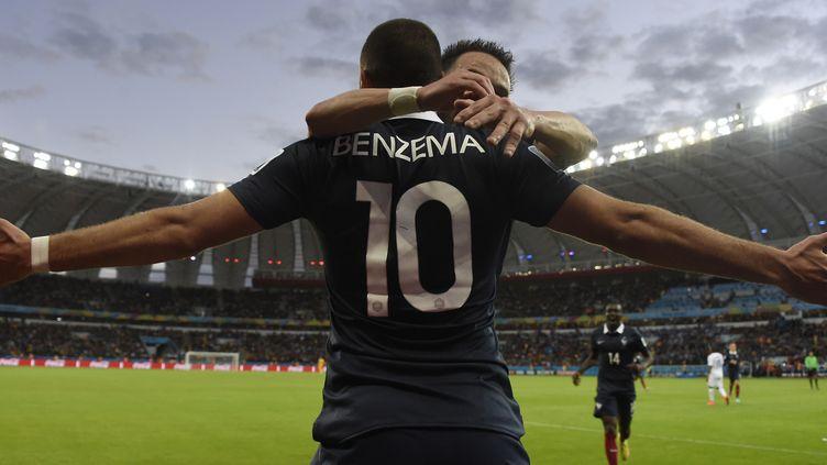 Karim Benzema et les Bleus ont bien débuté leur Coupe du monde (JUAN BARRETO / AFP)