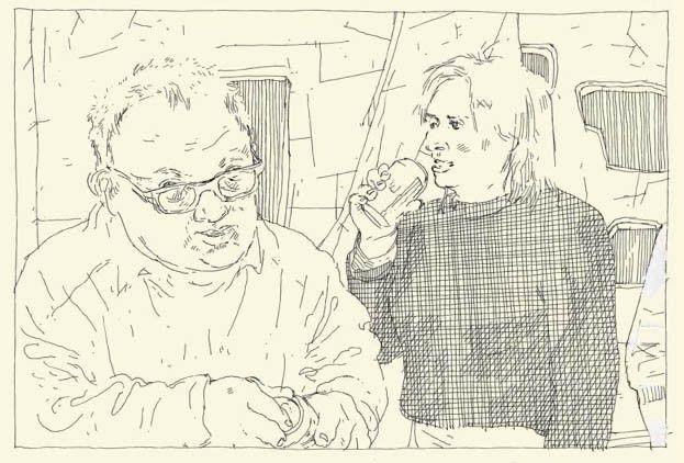 """Page intérieure """"Vivre à FranDisco""""  (Marcel Schmitz et Thierry van Hasselt / Frémok Knock OUtsider)"""