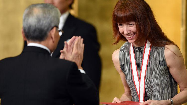 A Tokyo, Sylvie Guillem reçoit le Praemium Imperiale  (Toshifumi Kitamura / AFP)