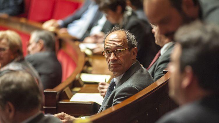Le député de l'Oise (Les Républicains) Eric Woerth à l'Assemblée, le 14 octobre 2015. (CITIZENSIDE / YANN KORBI / AFP)