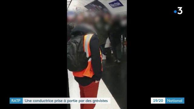 Grève RATP : scène de heurts entre une conductrice et des grévistes