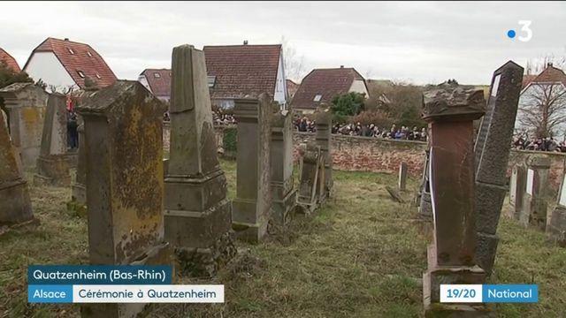 Alsace : près de 400 personnes réunies au cimetière juif de Quatzenheim