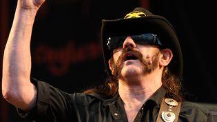 Lemmy Kilmister, leader du groupe Motörhead, le 14 juin 2010.  (DANI POZO / AFP)