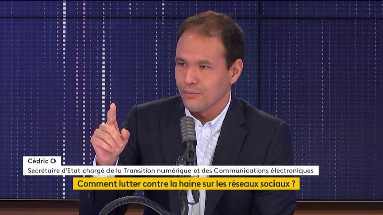 Cédric O le secrétaire d'État chargé de la transition numérique et des communications électroniques, invité de franceinfo le 25 octobre 2020. (FRANCEINFO / RADIOFRANCE)