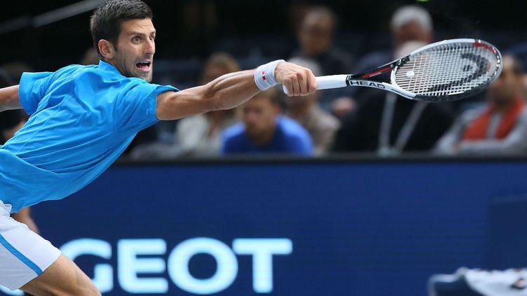 Le Serbe Novak Djokovic lors du tournois de Bercy à Paris le 2 novembre 2016. (ALFONSO JIMENEZ/SHUTTER/SIPA / REX)