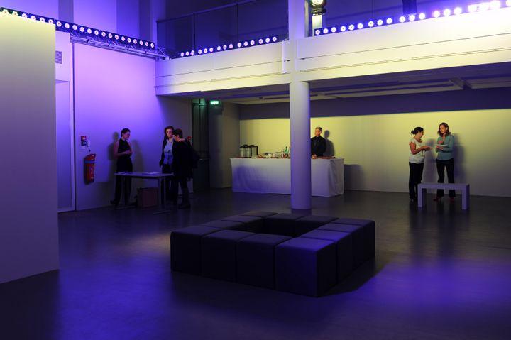 """""""Traverser la lumiere"""", de Nathalie Junod Ponsard, à l'Espace Fondation EDF, le 3 octobre 2013 à Paris. (MAXPPP )"""