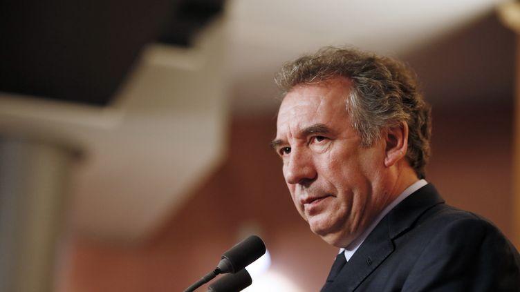 Le pérsident du Modem, François Bayrou, le 3 avril 2013 à Paris. (KENZO TRIBOUILLARD / AFP)