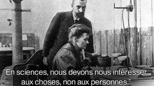 Les scientifiques Pierre et Marie Curie. (AFP)