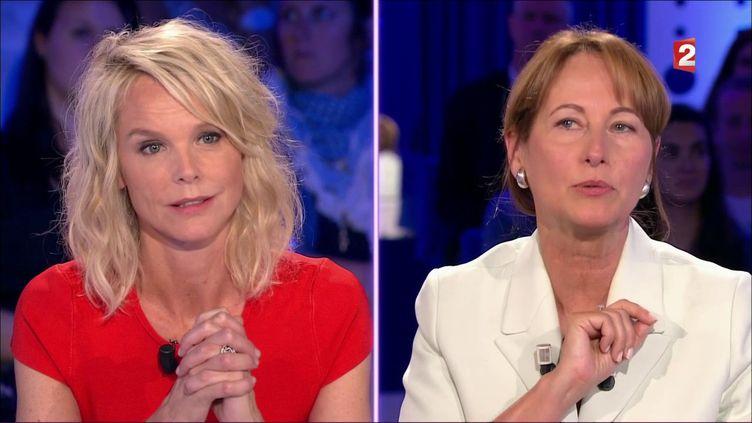 """Vanessa Burggraf face à Ségolène Royal dans """"On n'est pas couché"""", lors de l'émission diffusée le 3 juin 2017 sur France 2. (FRANCE 2)"""