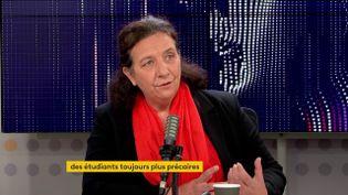 """Frédérique Vidal, la ministrede l'Enseignement Supérieur, de la Recherche et de l'Innovation était l'invitée du """"8h30 franceinfo"""" vendredi 15 octobre. (FRANCEINFO / RADIOFRANCE)"""