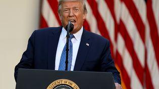 Le président américain Donald Trump donne une conférence de presse à la Maison Blanche, à Washington, le 1er juin 2020. (CHIP SOMODEVILLA / GETTY IMAGES NORTH AMERICA / AFP)