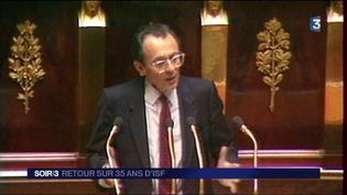 Michel Rocard à l'Assemblée nationale. (FRANCE 3)
