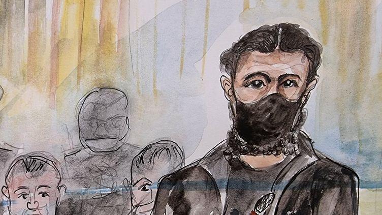 L'accusé Salah Abdeslam, le 15 septembre 2021 à Paris. (ELISABETH DE POURQUERY / FRANCEINFO)