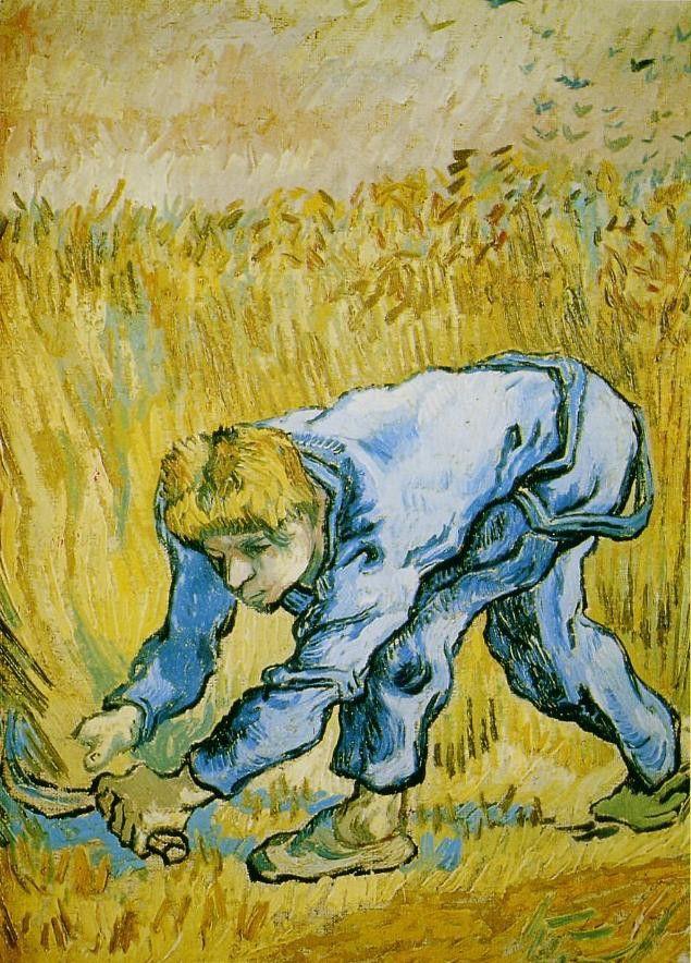 Le moissonneur de Van Gogh, peint en 1889  (Musée d'Amsterdam )