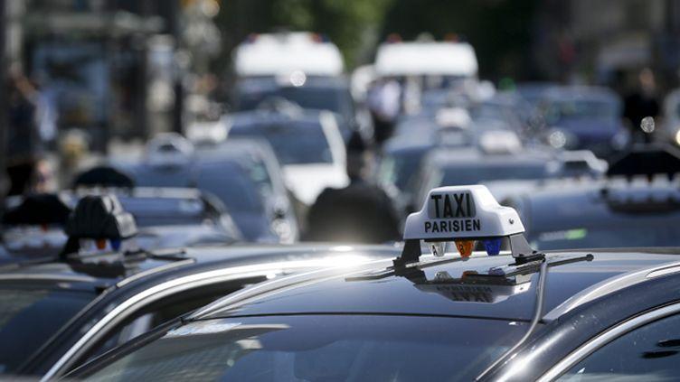 (Les taxis se sont mobilisés à plusieurs reprises contre Uber et les VTC © MAXPPP)
