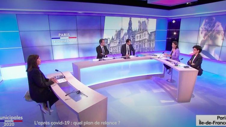 Paris Le Grand débat, sur France 3 et franceinfo, mercredi 17 juin 2020. (FRANCEINFO)