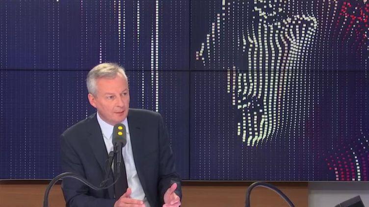 Le ministre de l'Économie et des Finances, Bruno Le Maire, invité le 27 septembre de franceinfo. (RADIO FRANCE / FRANCE INFO)