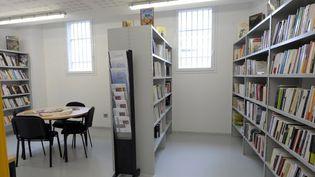 Bibliothèque du Centre pénitentiaire Sud-Francilien de Réau, enSeine-et-Marne  (BERTRAND GUAY / POOL / AFP)